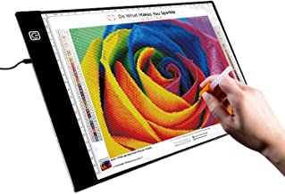 A4 LED Tracing Board, LED Light Box Ideal for 5d Diamond Painting, DIY Arts & Crafting, Quilting, Animation Drawing; Power...