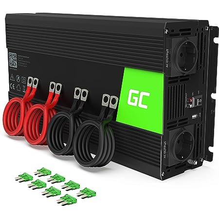 Green Cell 2000w 4000w 12v Auf 230v Reiner Sinus Volt Kfz Spannungswandler Wechselrichter Konverter Pure Sine Wave Power Solar Inverter Dc Ac Umwandler Stromwandler Wohnwagen Auto Autoladegerät Navigation