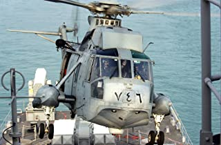 Home Comforts an SH-3 Sea King from Helicopter Combat Support Squadron Two (HC-2) Delivers Passengers and Mail t Vivid Imagery Laminated Poster Print 24 x 36