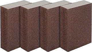 LUTER 4 stuks schuurspons nat en droog schuurblok fijn (rang 240 tot 320) schuurpads (4 blokken)