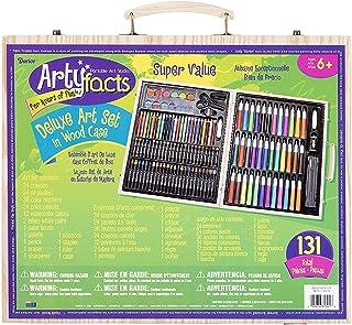 Juego de caballete y arte de Darice Piece de Studio, Arte de alta calidad, 131 piezas, 131-Piece Premium Art, 1