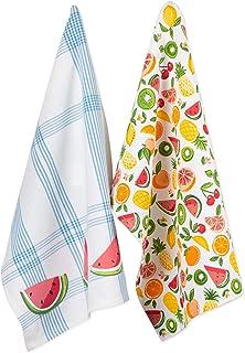 DII Vintage Christmas Farmhouse Kitchen Collection Dishtowel Set Fruity Slice CAMZ11117
