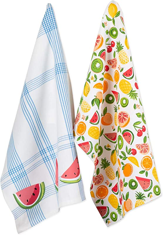 DII CAMZ11117 Cotton Summer Dish Decorative Oversized Towels Perfect For Every Day Home Kitchen Holidays And Housewarming Gifts 18x28 Fruity Slice