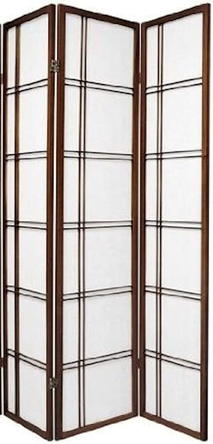 Legacy Decor 3 and 4 Panel Room Dividers in Black, Cherry, Natural, and White color.