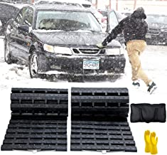 JOJOMARK Tire Traction Mat, Recovery Track Portable Emergency Devices for Snow, Ice, Mud, and Sand Used to Cars, Trucks, V...