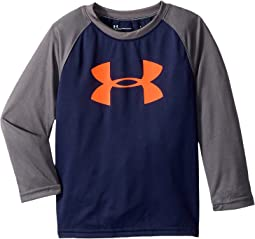 Under Armour Kids - Big Logo Raglan Long Sleeve (Little Kids/Big Kids)
