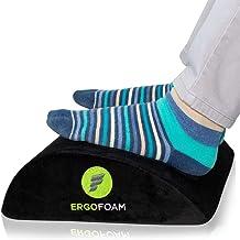 ErgoFoam Foot Rest Under Desk | Orthopedic Teardrop Design | Premium Velvet Soft Foot Stool Under Desk | Most Comfortable ...