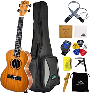 EASTROCK Tenor Ukulele 26 inch Professional Wooden Electric Ukelele Kit for Beginners Adults with Gig Bag,EQ Tuner,Strap,C...