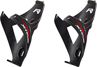 Double X1 Matt Porta Bidon Bici Carrera de Ruta/Bicicleta de Montaña MTB/Gravel Bike. Color: Negro 100% Made IN Italy