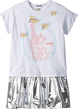 Kenzo Kids - Statue of Liberty Drop Waist Dress Set (Big Kids)