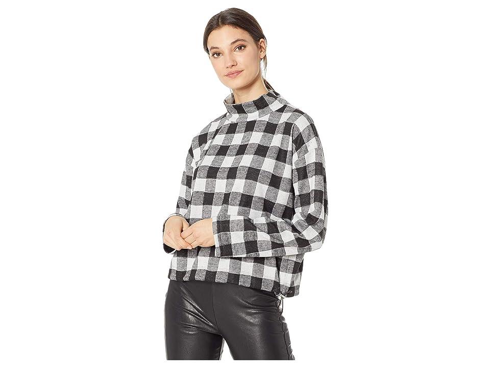 BB Dakota Buffalo 66 Plaid Knit Sweatshirt (Black) Women