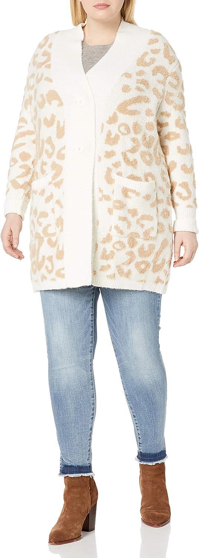 Jessica Simpson Women's Lana Oversized Jacquard Cardigan Sweater