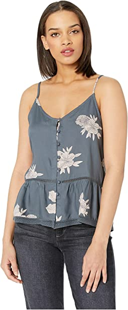 Manhattan At Dusk Peplum Tank