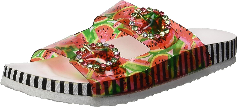 Betsey Johnson Womens Misty Slide Sandal