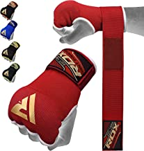 RDX Boxing Hand Wraps Inner Gloves for Punching – Knuckle and Fist Protection – Elasticated Padded Under Mitts with Quick Long Wrist Wrap – Great for MMA, Muay Thai, Kickboxing & Martial Arts Training