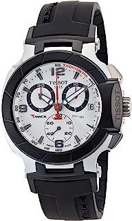 TissotT0484172703700 T-Race Quartz White Chronograph Dial Watch