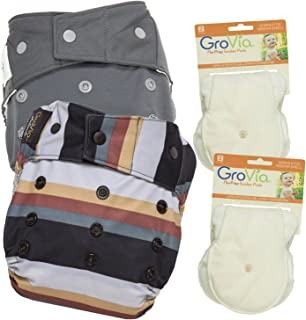 GroVia Experience Package: 2 Shells + 4 No Prep Soaker Pads (Color Mix 10 Snap)