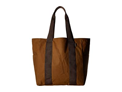 Filson Medium Grab N Go Tote (Dark Tan/Brown) Tote Handbags
