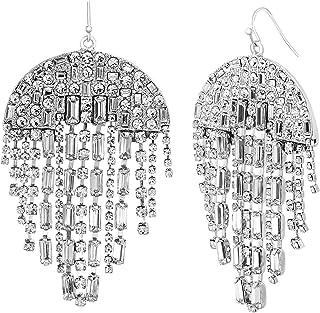 Steve Madden Women's Rhinestone Drop and Dangle Earrings - SME508996RH
