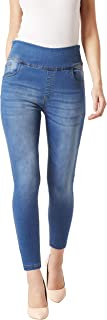 Miss Chase Women's Blue Skinny Fit High Rise Stretchable Denim Jeggings