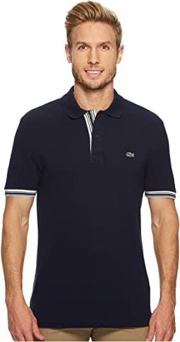 Lacoste Short Sleeve 'Semi Fancy' Petit Pique 2 Wires Slim