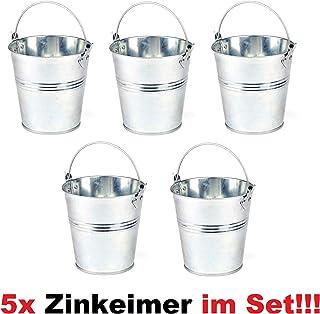 VBS Deko-Eimer farbig 3er-Set Metall Eimer Dekoeimer Tischdeko /Ø 7,2 cm