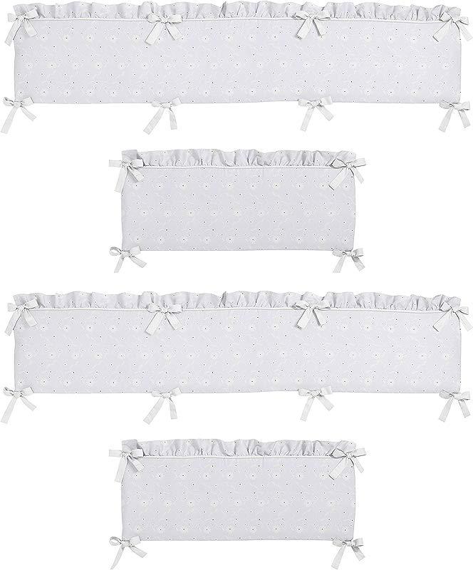 Sweet Jojo Designs White Eyelet Collection Crib Bumper