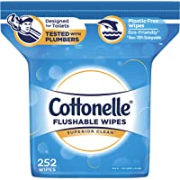 2 x 252-Count Cottonelle FreshCare Flushable Wipes for Adults