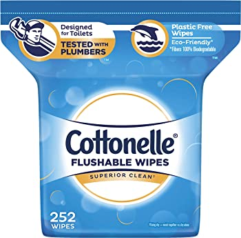 Cottonelle 252-Count FreshCare Flushable Wipes for Adults