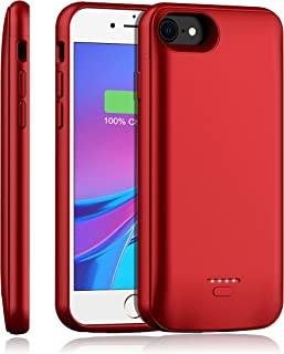 Battery Case for iPhone 8/7/6s/6/SE 2020, YISHDA Upgraded [4000mAh] Magnetic Slim Extended Battery Case,Protective Portable Charging Case,Rechargeable Charging Case (4.7 inch) –Red