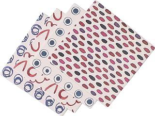 LOVECASA Juego de 4 Posavasos de Porcelana, Posavasos Decorativos para Vidrio, Taza, Copas, Floreros, Velas en Mesa (Cuadrado | 10 cm) 4 Patrones Colores