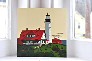 Portland Head Light, Maine Print (8x8 Square, Wall Decor Art)