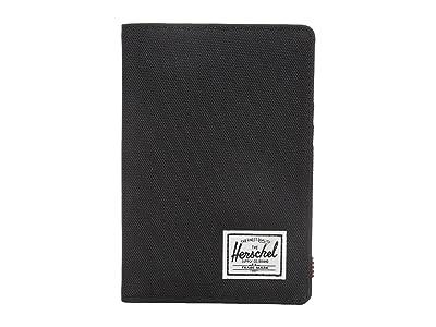 Herschel Supply Co. Raynor Passport Holder RFID (Black) Wallet Handbags