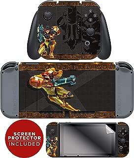 Controller Gear Nintendo Switch Skin & Screen Protector Set - Joy-Con & Console - Metroid -