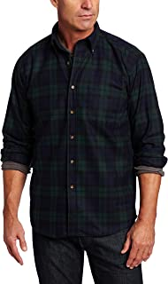 Men's Long Sleeve Button Front Classic-fit Fireside Shirt
