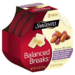 Sargento Balanced Breaks with Natural White Cheddar Cheese with Almonds and Dried Cranberries, 1.5 o