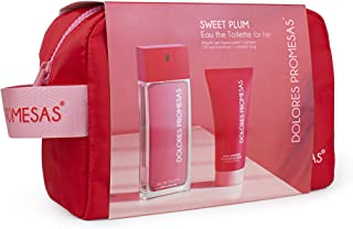 Dolores Promesas Sweet Plum-Set EDT 100ml + Hand Sanitizer + Neceser, Estándar, Único, 5