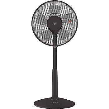 [山善] 30cmリビング扇風機 (押しボタンスイッチ) (風量3段階) 換気 タイマー付 ブラック YLT-C30(B) [メーカー保証1年]
