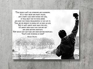 FAYFA Dawn Sky Rocky Balboa - Motivational Quotes Art Poster Print Hope Qoute,18x24 inch