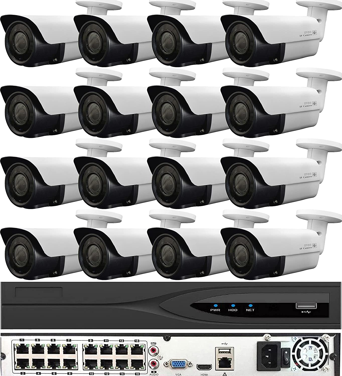 Beauty Rapid rise products USG 5MP 16 Camera HD Security System : 16x NVR 32 Channel 12MP +