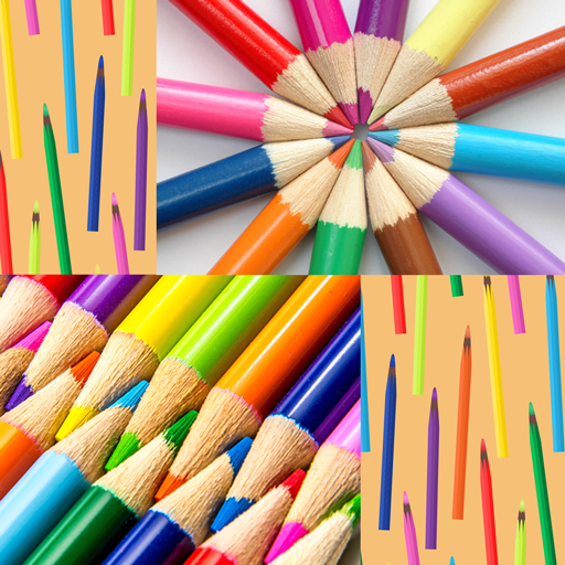 Collage de crayons de couleur
