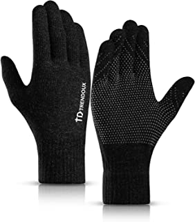 TRENDOUX 360° Whole Palm Touch Screen Gloves for Men Women, Anti-Slip Silicone Gel, Elastic Cuff, Thermal Soft Lining