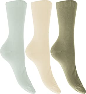 Womens/Ladies Extra Fine Silk Touch Bamboo Socks (3 Pairs)
