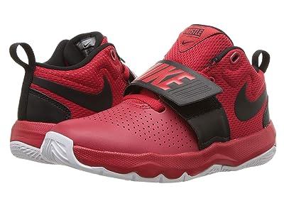 Nike Kids Team Hustle D8 (Little Kid) (University Red/Black/White 2) Boys Shoes