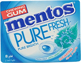 Mentos Fresh Mint With Green Tea Gum, 8 Pieces