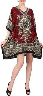 Miss Lavish London Women Kaftan Tunic Kimono Style Plus Size Dress for Loungewear Holidays Nightwear & Everyday Cover Up T...