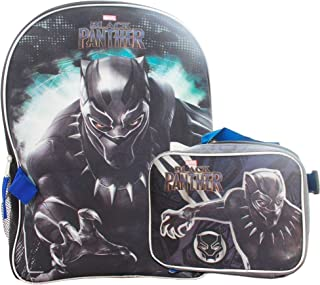 Marvel Black Panther Full Size Backpack With Detachable Matching Insulated Lunch Box
