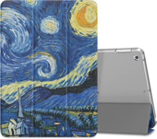 MoKo Case Fit 2018/2017 iPad 9.7 6th/5th Generation - Slim Lightweight Smart Shell Stand Cover with Translucent Frosted Back Protector Fit Apple iPad 9.7 Inch 2018/2017, Starry Night(Auto Wake/Sleep)