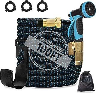 omotor 100FT Lightweight Expandable Garden Hose, Portable and No-Kink Soft Hose Water Hose