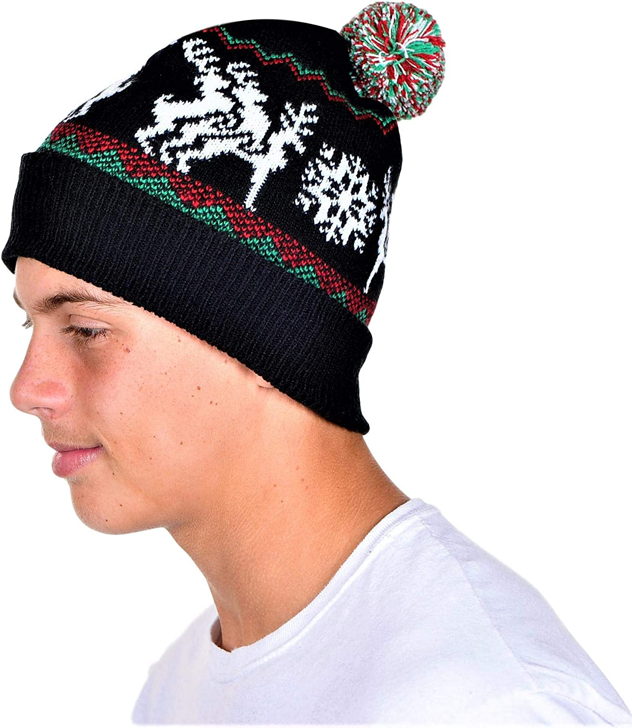 KESIS Humping Reindeer Ugly OFFicial Christmas Beanie Same day shipping Size One Black